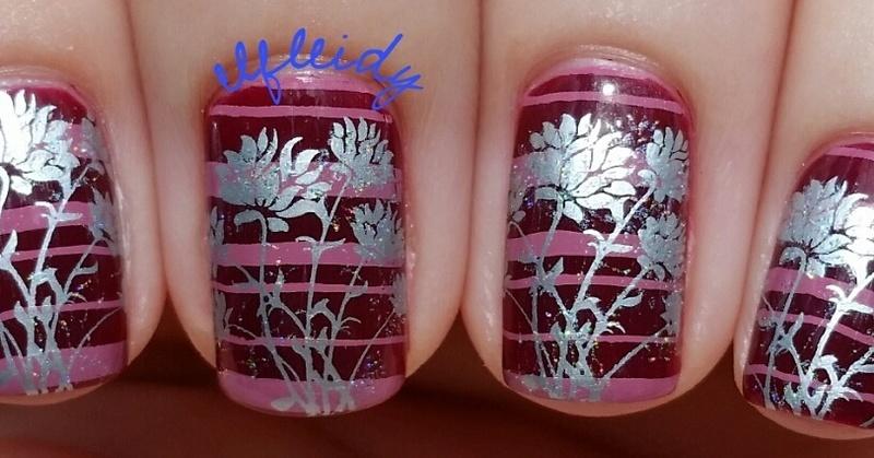 Triple stamping nail art by Jenette Maitland-Tomblin