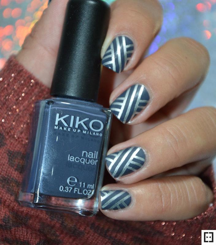 Stamping mat nails  nail art by Sweapee