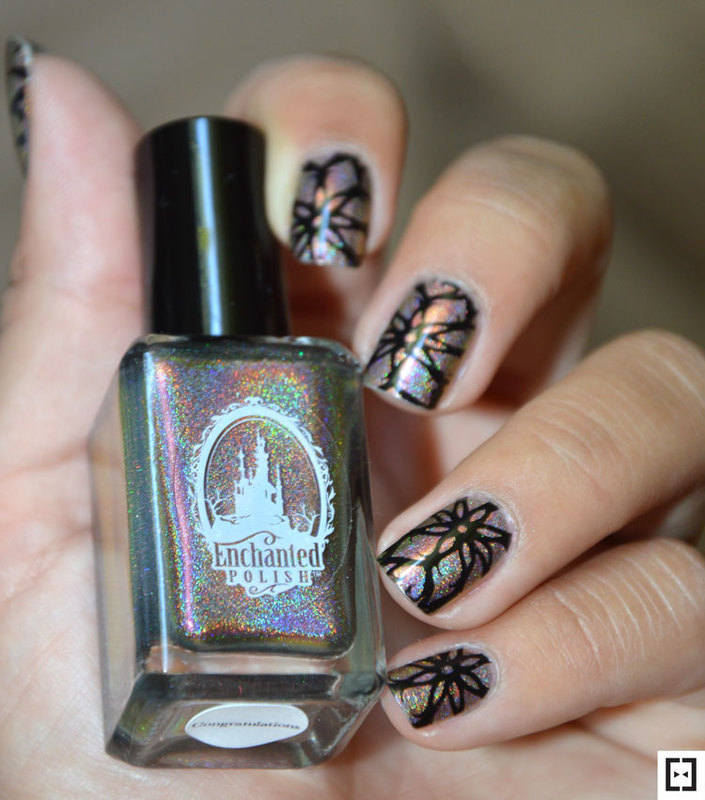 Stamping illusion  nail art by Sweapee