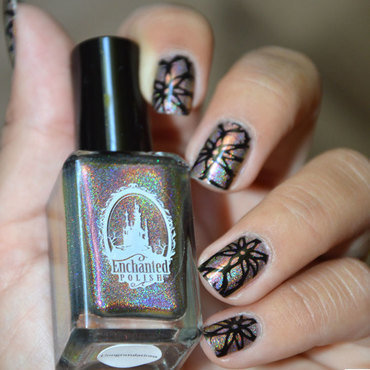 Stamping illusion  nail art by Sweapee