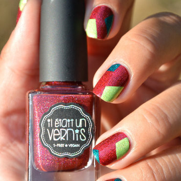 Patchwork IEUV nail art by Sweapee