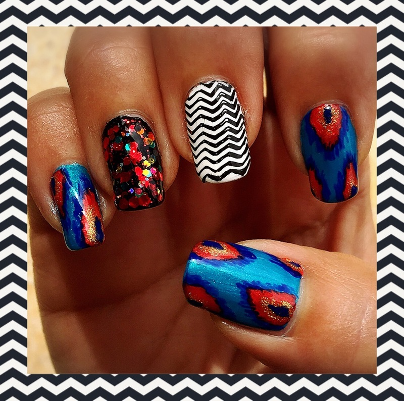 ikat  nail art by Idreaminpolish