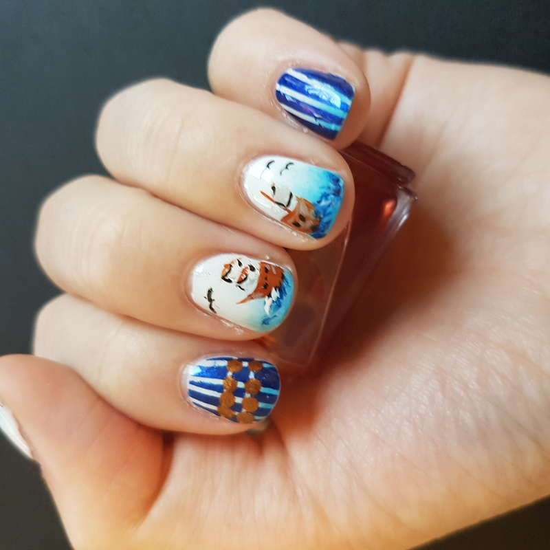 Tribute to my name :P nail art by TheSailorWoman