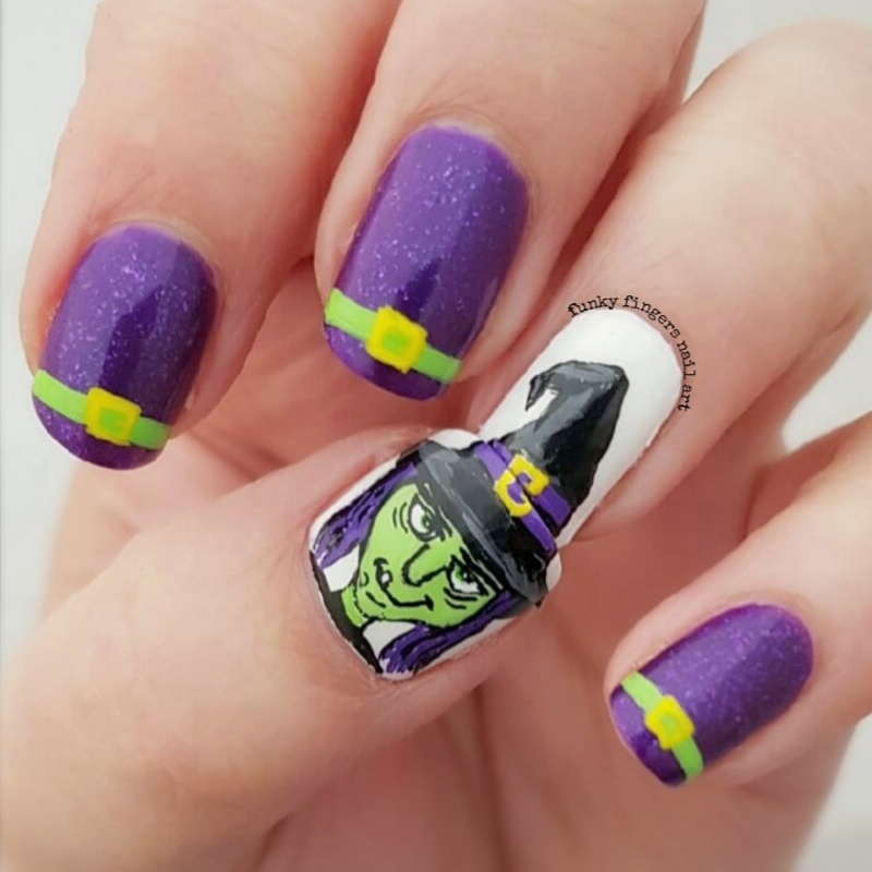 Witch nails nail art by Funky fingers nail art