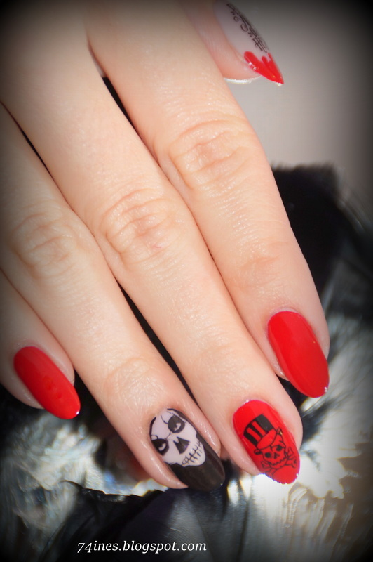 Give me a sign, I wanna believe nail art by 74ines