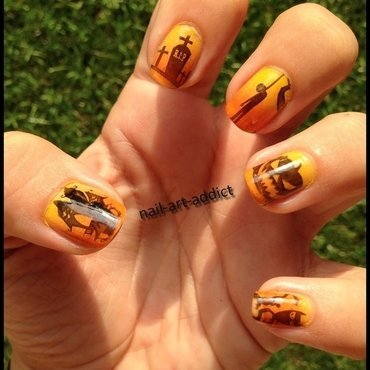 Nail Art : Stamping Halloween nail art by SowNails