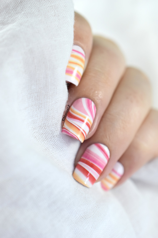 Marble madness nail art by Marine Loves Polish