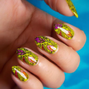 Warm autumn nail art by notcopyacat