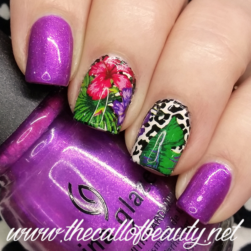 Tropical nail art by The Call of Beauty