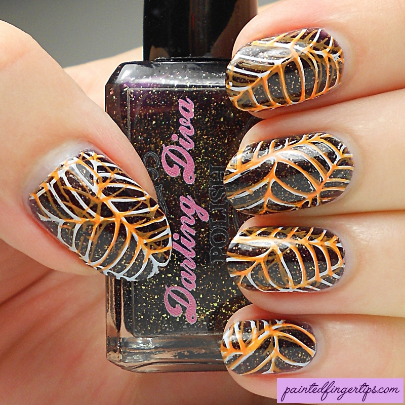 Stamped Spiderwebs nail art by Kerry_Fingertips
