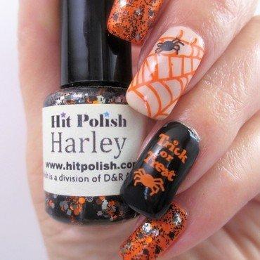 Trick or Treat nail art by NinaB