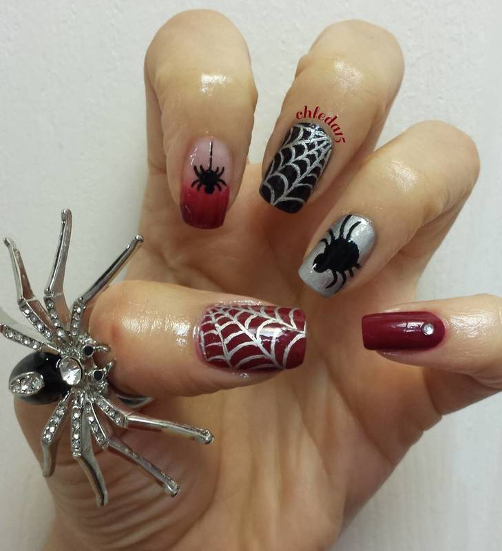 Hey There, See How the Spider Can! nail art by chleda15