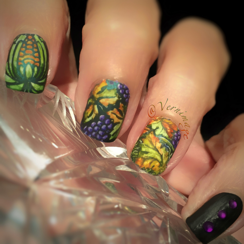 Fall Harvest nail art by Vernimage