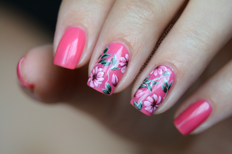 flowers nail art by bopp