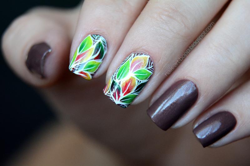 Atumn! nail art by bopp