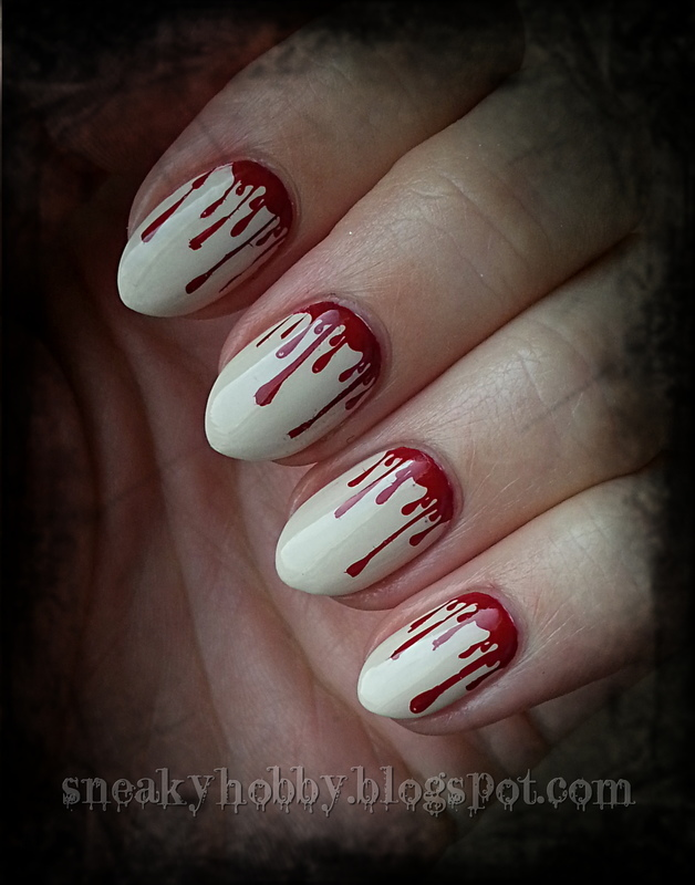 Bloody Nails nail art by Mgielka M