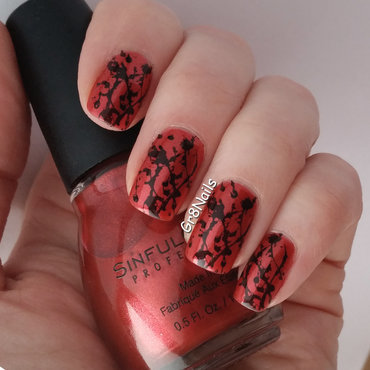 Splatter  nail art by Gr8Nails