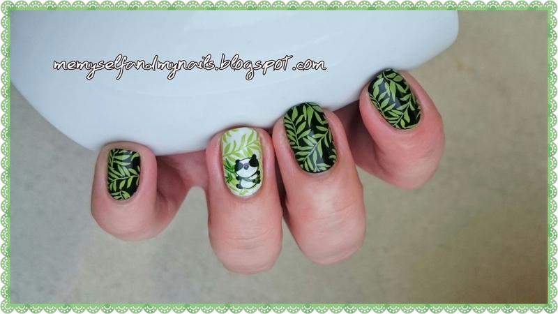 SWEET PANDA nail art by ELIZA OK-W