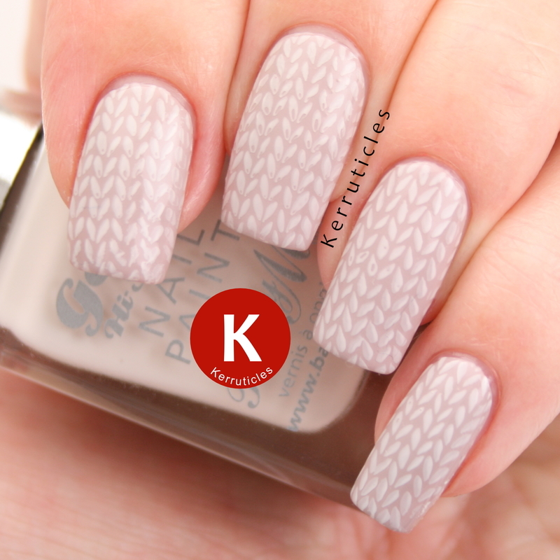 Knitted nails nail art by Claire Kerr
