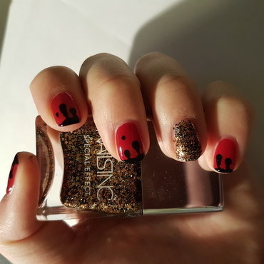Black blood nail art by TheSailorWoman