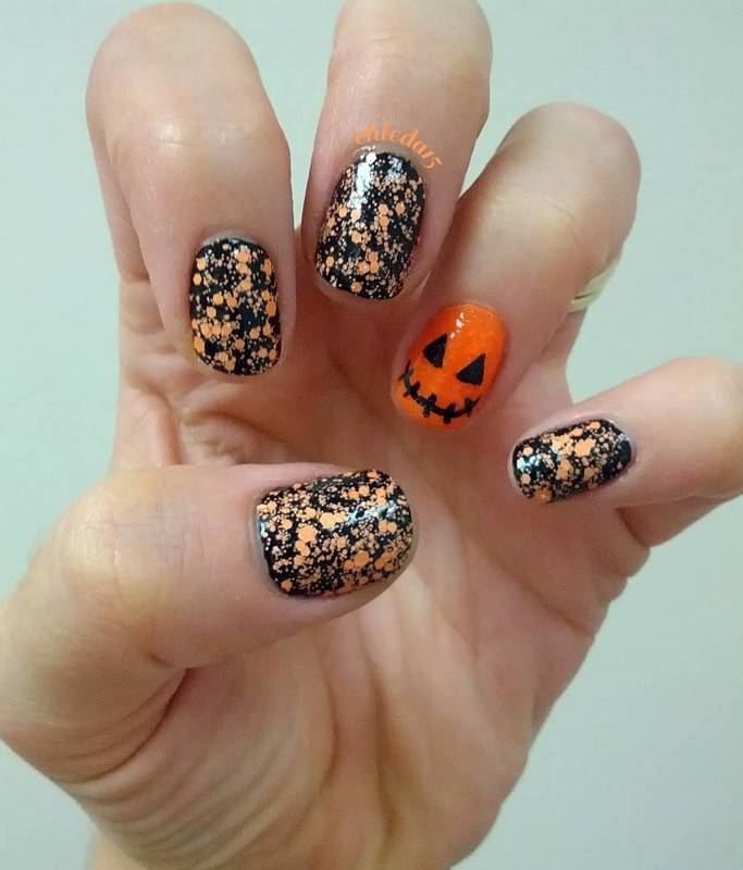 Jack & Orange Matte nail art by chleda15
