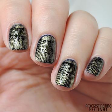 Gilded Art Deco Nail Art nail art by Jae Harrison