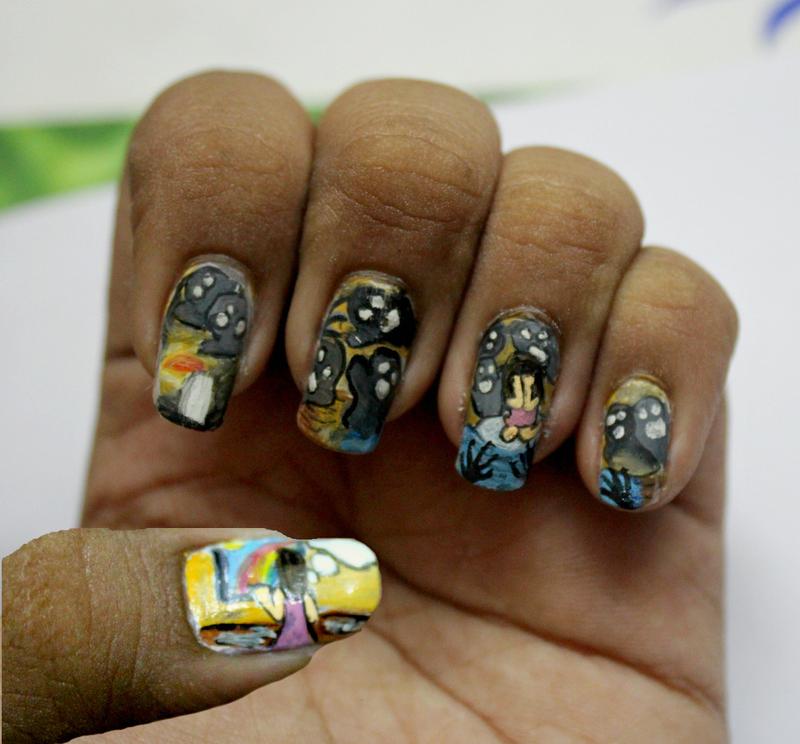 Depression nail art by Harini Sankar