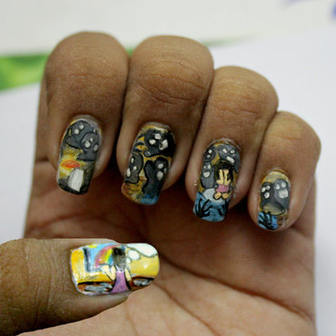 Depression nail art by Harini Sankar