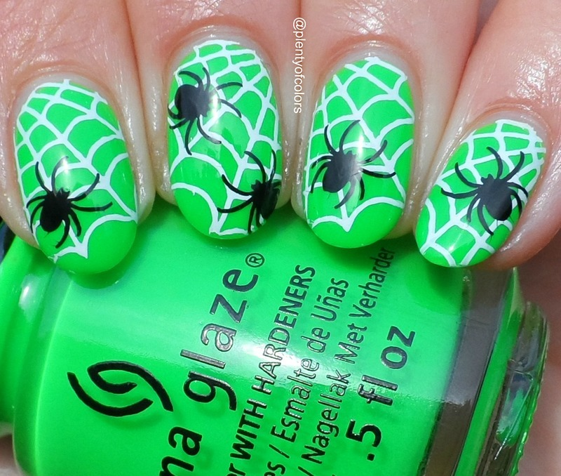 Pfui Spinne! nail art by Plenty of Colors
