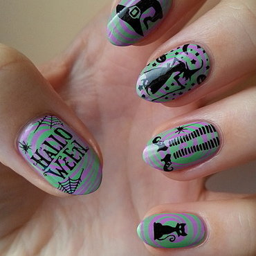 Halloween Is The Perfect Time For Witches! nail art by Mgielka M
