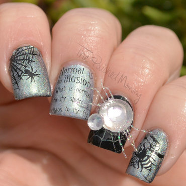 The Spider and the Fly nail art by The Polished Mommy