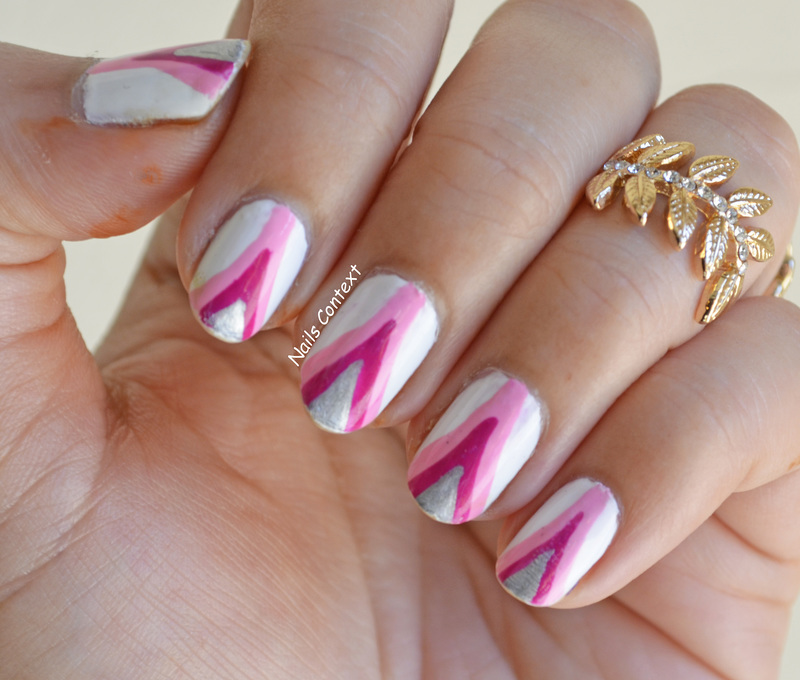 Pink Ribbon nail art by NailsContext