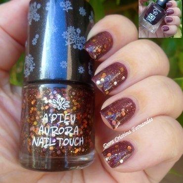 Autumnal Hues nail art by Dora Cristina Fernandes