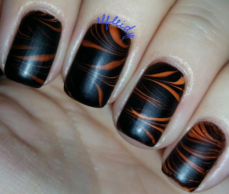 #watermarblepracticewed 10-26-2016 nail art by Jenette Maitland-Tomblin