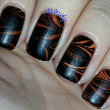 #watermarblepracticewed 10-26-2016 nail art by Jenette Maitland-Tomblin