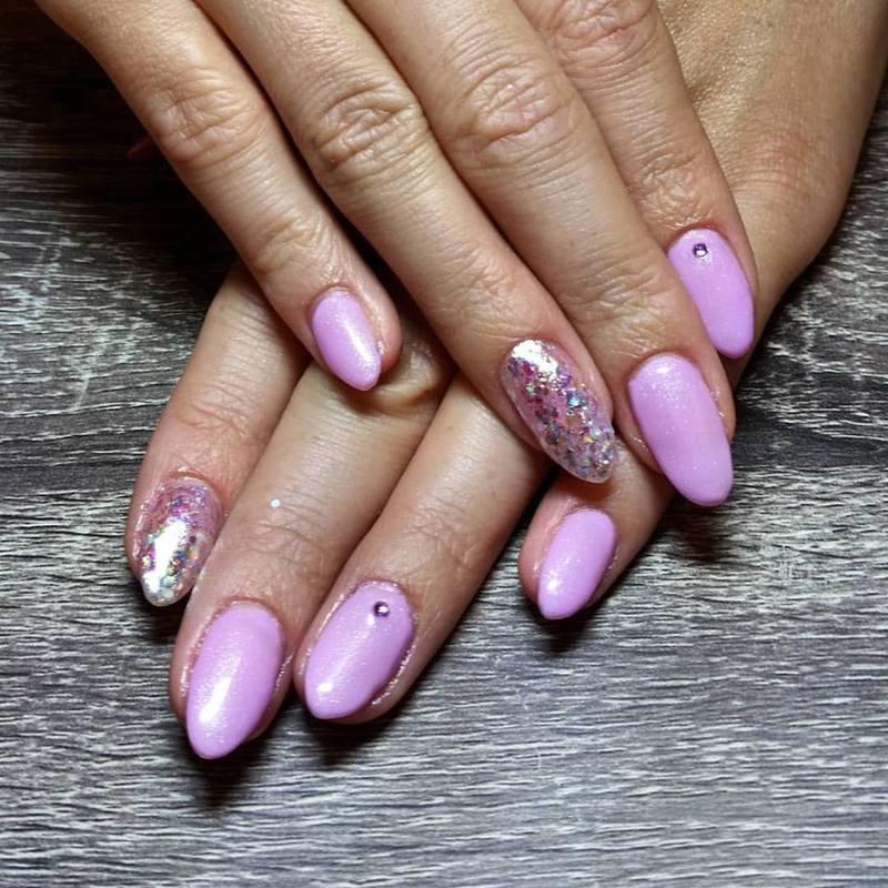 Lilac Fantasy  nail art by Ailesh Abrams