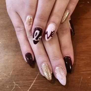 Love You  nail art by Ailesh Abrams
