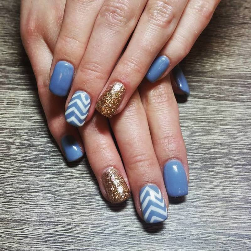 Periwinkle World nail art by Ailesh Abrams