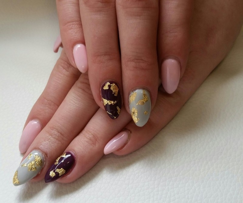 Gilded in Gold  nail art by Ailesh Abrams