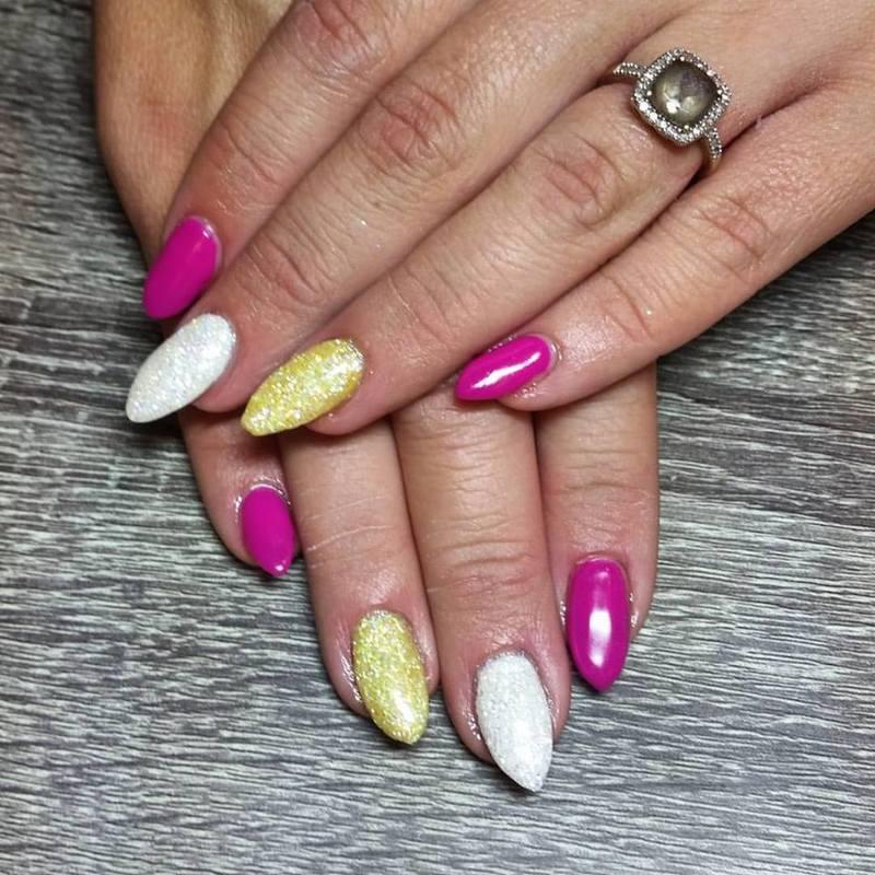 Summer Sunshine nail art by Ailesh Abrams