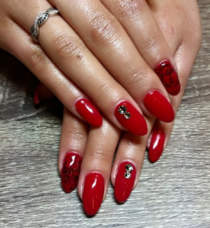 Rockin' in Red nail art by Ailesh Abrams