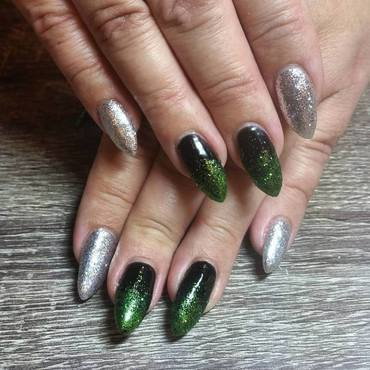 Wicked Witch of the West  nail art by Ailesh Abrams