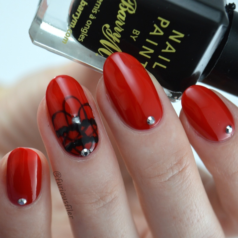 Gothic Halloween  nail art by Furious Filer