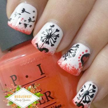 Dark Dandelion Nail Art  nail art by madjennsy Nail Art