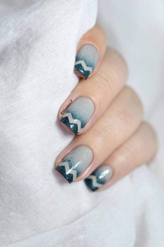 Gradient & chevrons nail art by Marine Loves Polish