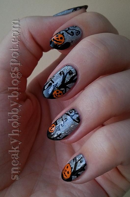 Halloween Pumpkins nail art by Mgielka M