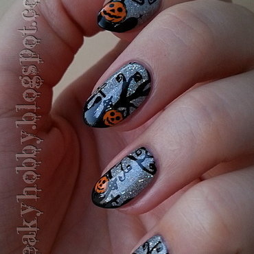 Halloween Pumpkins nail art by Mgielka M