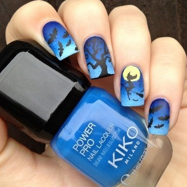 Witch nail art by Sanela