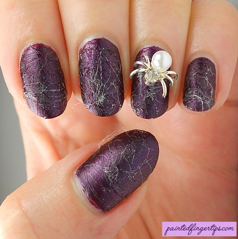 Sugarspun Spiderwebs nail art by Kerry_Fingertips