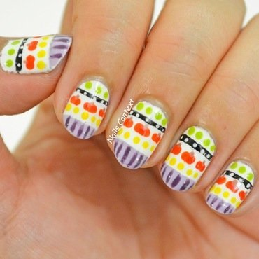 Pumpkin Tribal Nails  nail art by NailsContext